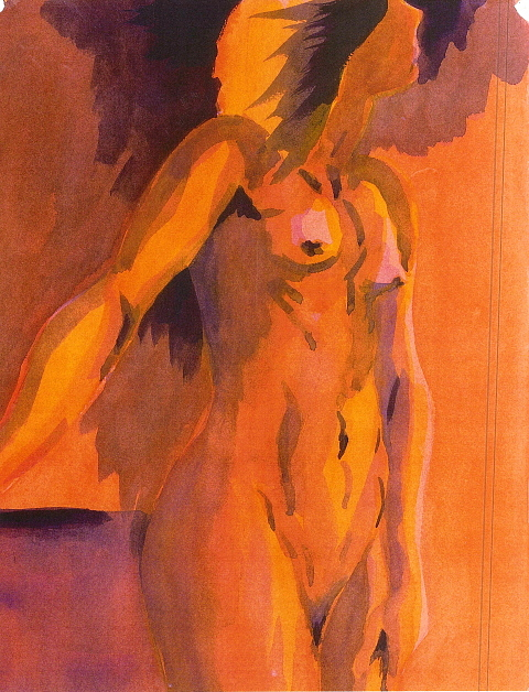 Laurie Sscarlet Painting by Ken Daugherty