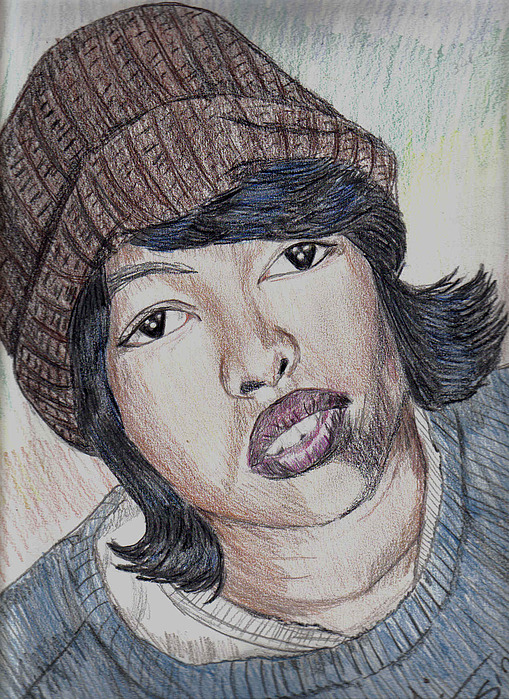 Portrait Drawing - Laurn Hill Of The Fugees by Thomasina Marks