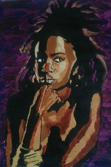 Lauryn Hill Painting - Lauryn Hill by Rachel Natalie Rawlins