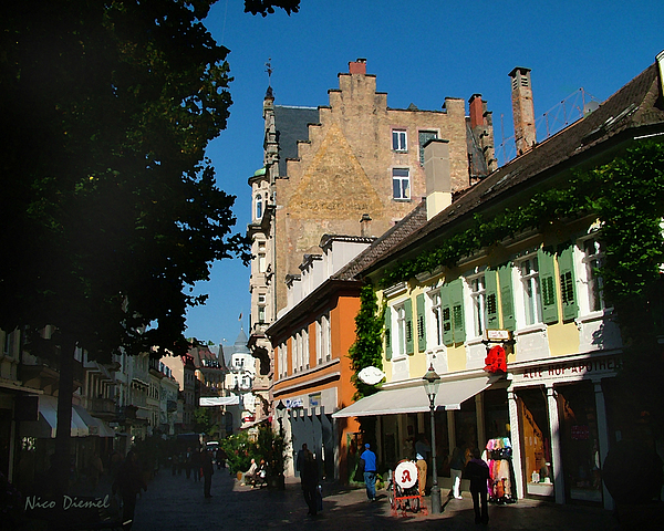 Lausanne Painting - Lausanne Street by Nick Diemel