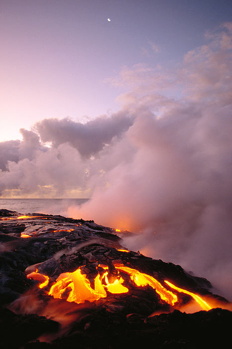 Active Photograph - Lava Flows At Sunrise by Peter French - Printscapes