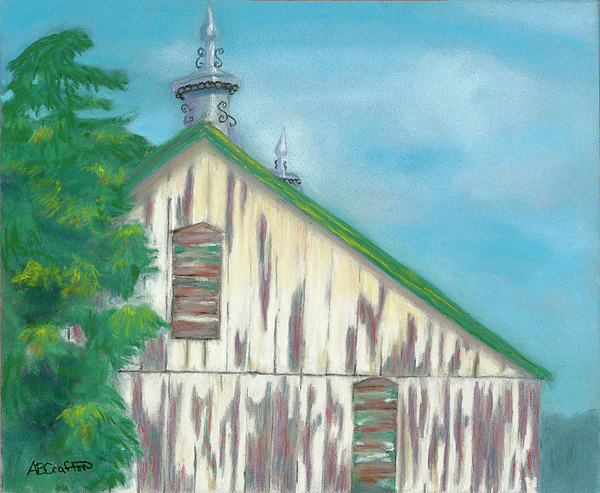 Old Barn Painting - Layers Of Years Gone By by Arlene Crafton