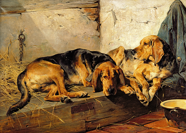 Lazy Moments Painting - Lazy Moments by John Sargent Noble