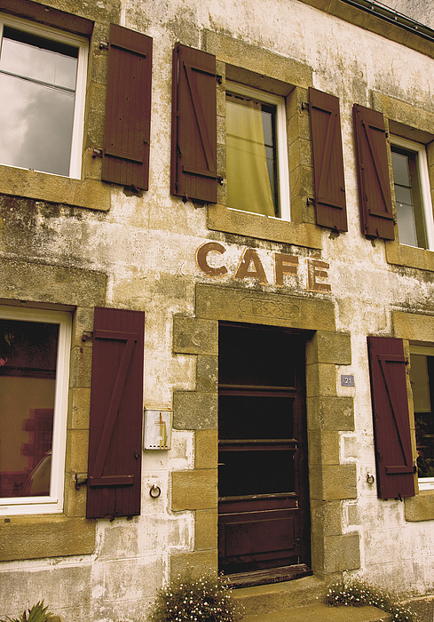 Alcohol Photograph - Le Vieux Cafe    The Old Cafe Bar by Mark Hendrickson