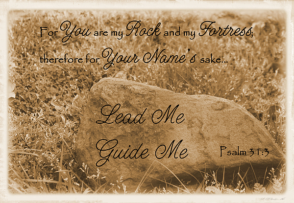 Catholic Photograph - Lead Me Guide Me Psalm 31 by Robyn Stacey