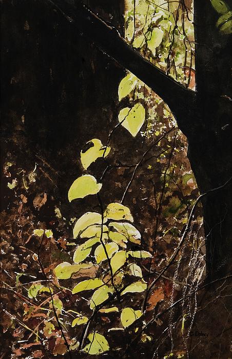 Leaf Painting - Leaf Glow by Carla Dabney