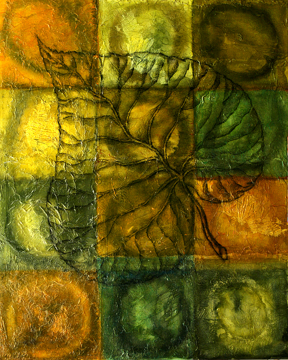 Autumn Painting - Leaf Whisper by Leon Zernitsky