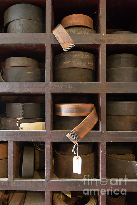 Mill Photograph   Leather Belt Storage At An Old Mill By Edward Fielding