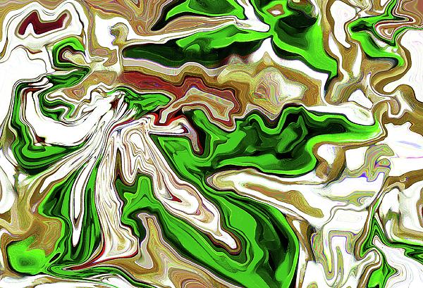 Green Digital Art - Leaves  by Molly McPherson