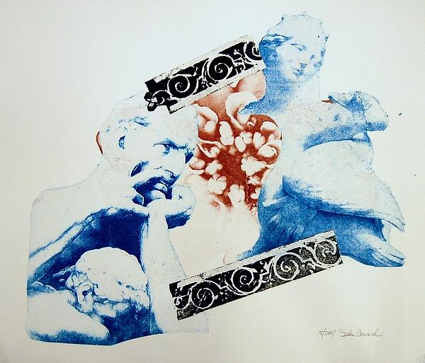 Figure Print - Leda Makes Him Angry by DeLa Hayes Coward