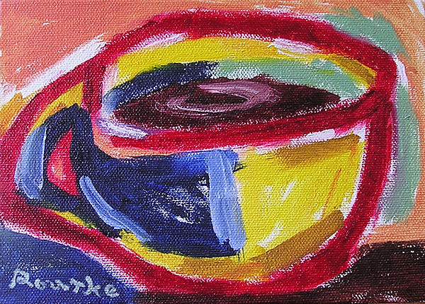Cup Painting - Left Handed Cup by Nancy Rourke