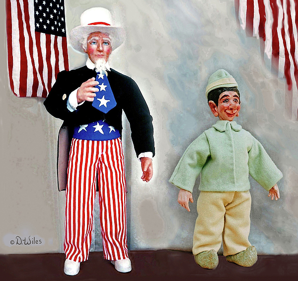 Uncle Sam Sculpture - Lefty And Sam by David Wiles