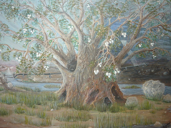 Visions Painting - Lehis Vision Of The  Tree Of Life by Jill Spurlock