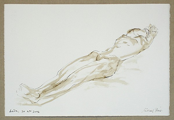 Nude Drawing - Leila 20 Nov No. 2. by Michael  Price