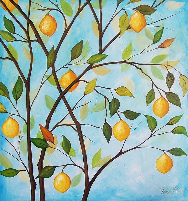 Tree Painting - Lemom Tree by Peggy Davis