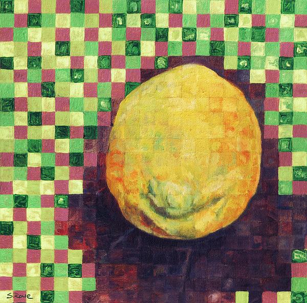 Lemon Painting - Lemon Squares by Shawna Rowe