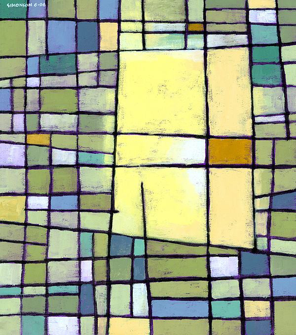 Abstract Painting - Lemon Squeeze by Douglas Simonson