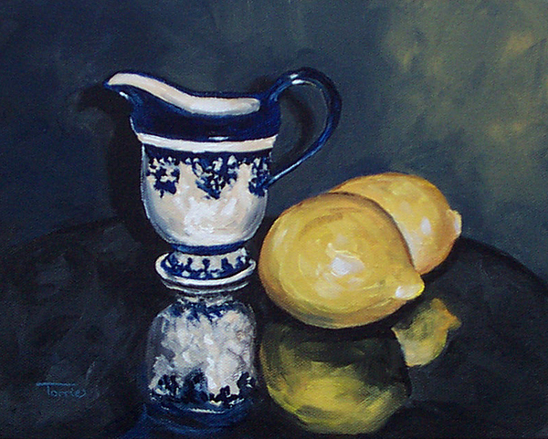 Cream Painting - Lemons And Cream  by Torrie Smiley