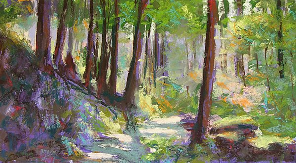 Landscape Painting - Lena Lake Trail Shadows by Mary McInnis