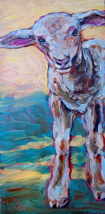 Lamb Painting - Lennie by Sheila Tajima