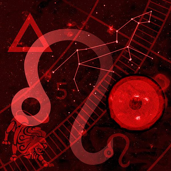 Horoscope Digital Art - Leo by JP Rhea