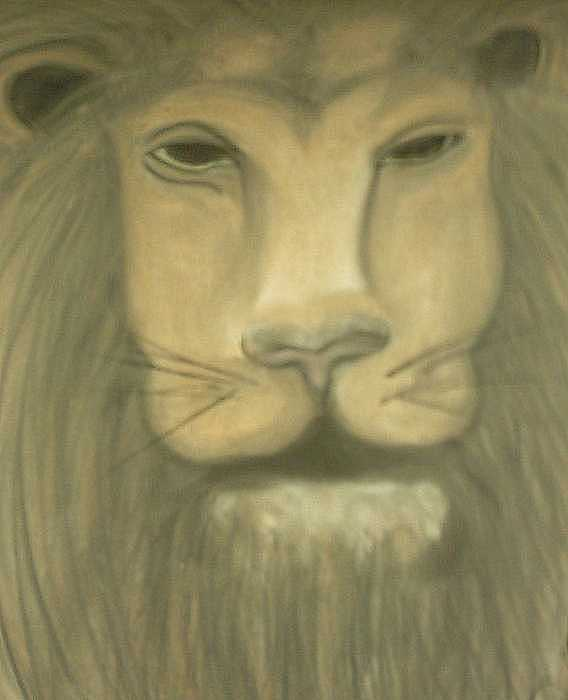 Leon The King Of The Jungle Painting by Darnillious Von Neegro