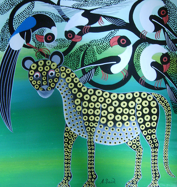 Wildlife Painting - Leopard by Ahmed Said