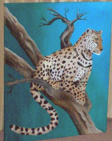 Leopard Painting by Nancy Waller