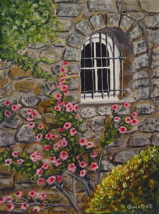 Window Painting - Les Arcs Sur Argens  by Quwatha Valentine