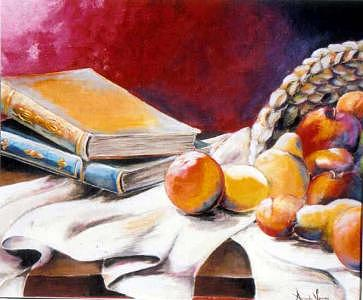 Books Painting - Lessons Learned by Amanda  Sanford