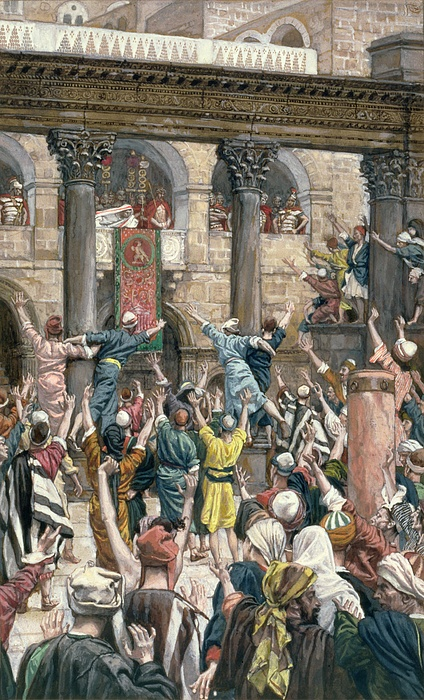 Let Painting - Let Him Be Crucified by Tissot