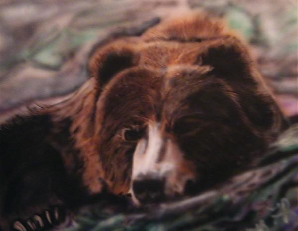 Bear Painting - Let Sleeping Bears Lie by Frank  Bingo
