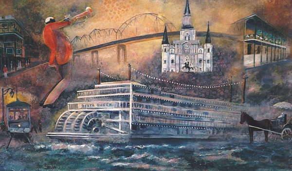 New Orleans Painting - Let The Good Times Roll by Gary Partin
