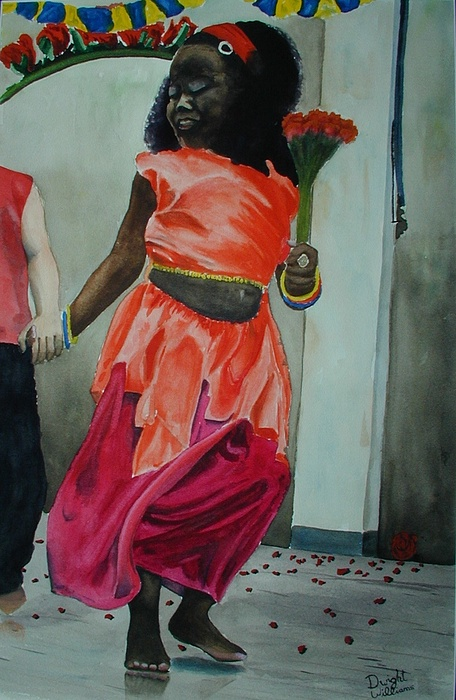 Person Painting - Lets Dance by Dwight Williams