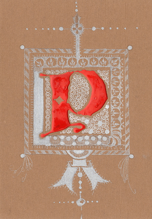 Letter Drawing - Letter P by Kristine Jansone