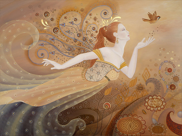 Fairy Painting - Letting Go Again by BK Lusk