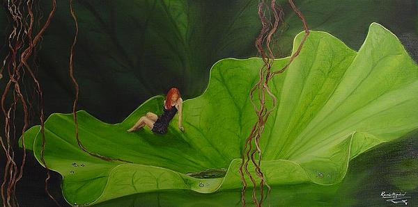Plant Painting - Liam Lotus by Ronnie Miyashiro