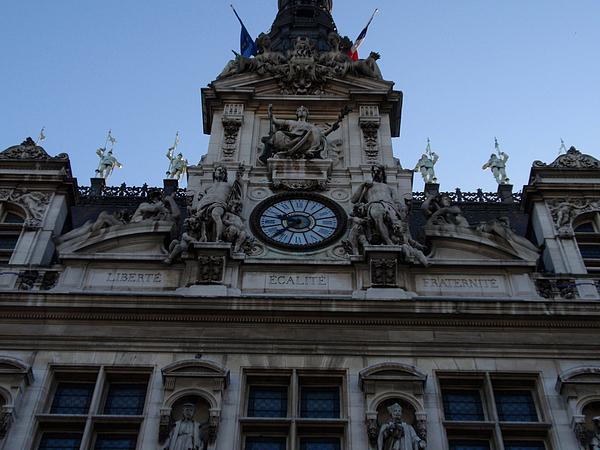 France Photograph - Liberte Ecalite Fraternite by Edan Chapman