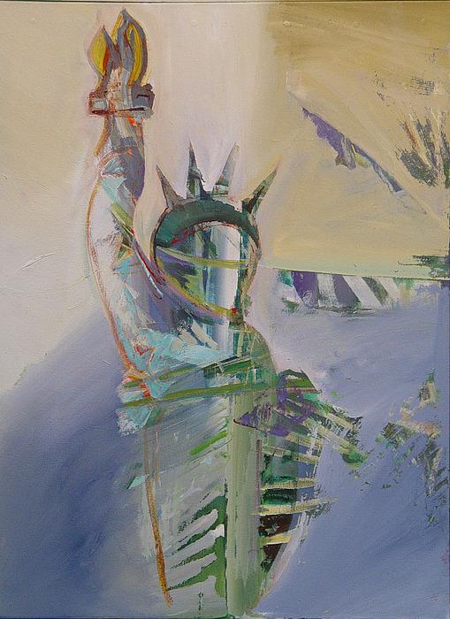 Statue Of Liberty Painting - Liberty 4 by Kevan Krasnoff