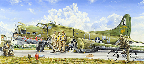 B-17 Painting - Liberty Run by Charles Taylor