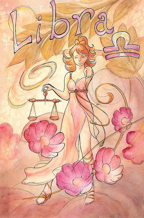 Libra Painting - Libra by Arwen De Lyon