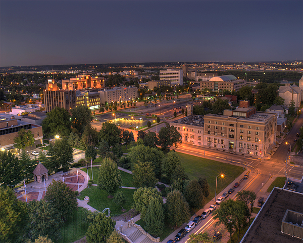Kansas City Kansas Photograph - Library Park In Kck by Don Wolf
