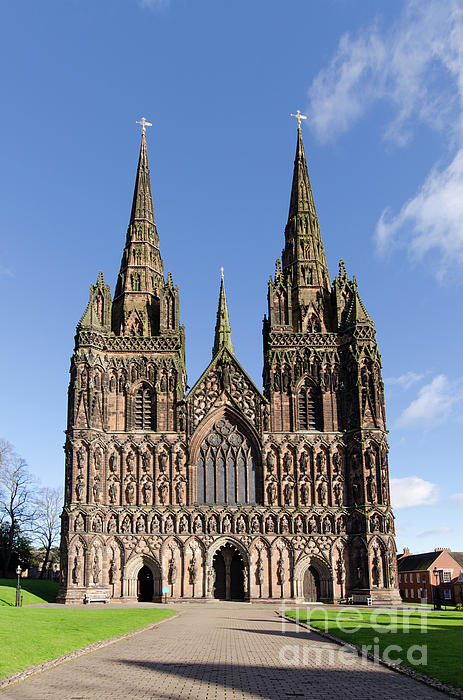 Lichfield Cathedral Photograph - Lichfield Cathedral by Steev Stamford
