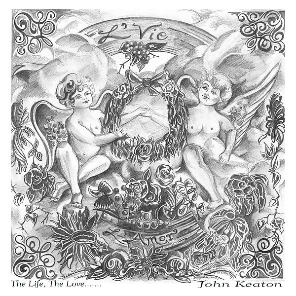 Angels Drawing - Life And Love by John Keaton