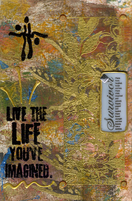 Understanding Mixed Media - Life As You Imagined It by Angela L Walker