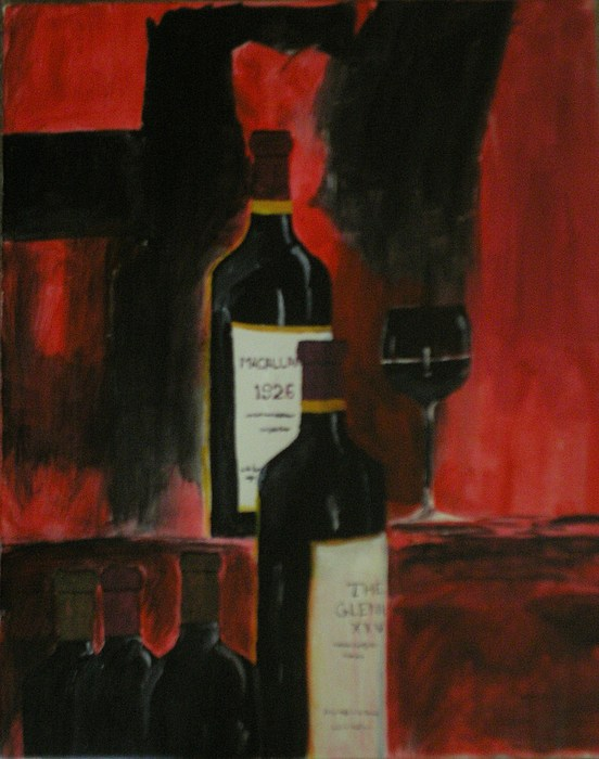 Life Light And Little Wine Painting by Deepa S