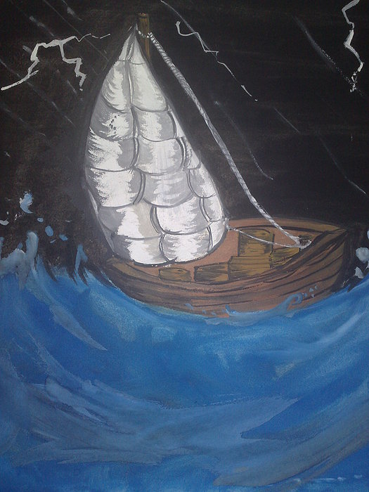 Water Painting - Life Moves On by Ayeesha Masrath