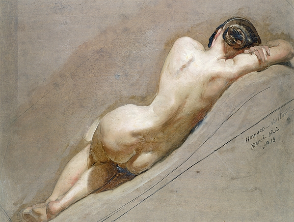 Life Painting - Life Study Of The Female Figure by William Edward Frost