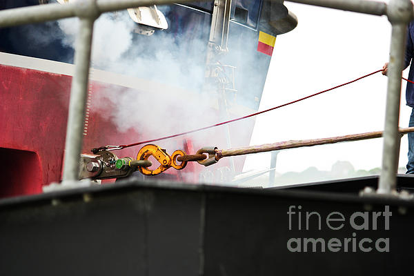 Out On A Shout Photograph - Lifeboat Chocks Away  by Terri Waters