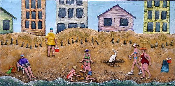 Beach Painting - Lifes A Beach by Linda Carmel